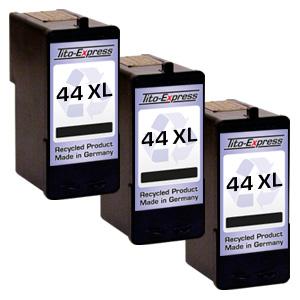 3x Druckerpatrone XXL recycled ProSerie. Ersetzt Lexmark 44