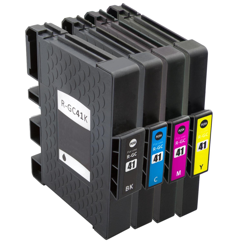Sparset 4 Gelpatronen XXL ProSerie kompatibel zu Ricoh GC-41 BK, C, M, Y