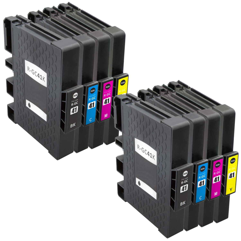 Sparset 8 Gelpatronen XXL ProSerie kompatibel zu Ricoh GC-41 BK, C, M, Y