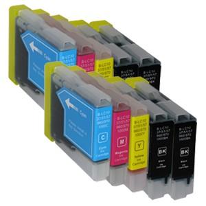 Sparset 10 Patronen XXL ProSerie kompatibel zu Brother LC-970 BK, C, M, Y