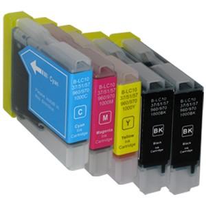 Sparset 5 Patronen XXL ProSerie kompatibel zu Brother LC-970 BK, C, M, Y