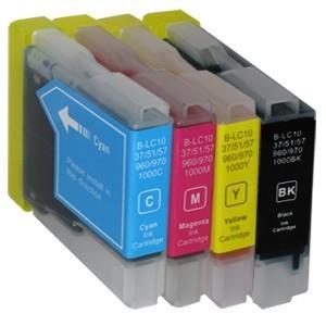 Sparset 4 Patronen XXL ProSerie kompatibel zu Brother LC-970 BK, C, M, Y