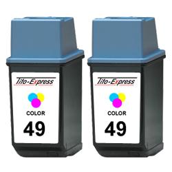 2x Druckerpatrone XXL recycled ProSerie. Ersetzt HP 49