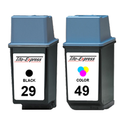 Sparset 2 Patronen XXL recycled ProSerie. Ersetzt HP 29 & 49