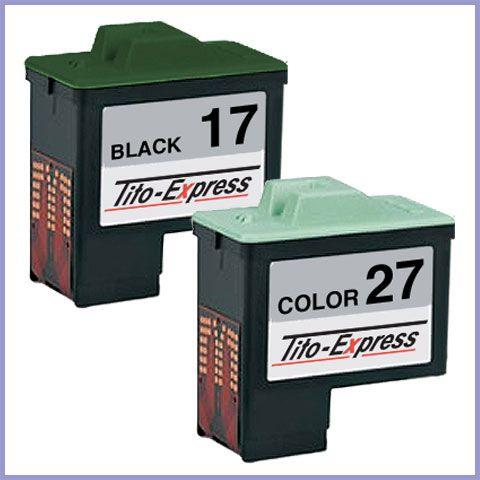 Sparset 2 Patronen XXL recycled ProSerie. Ersetzt Lexmark 17 & 27