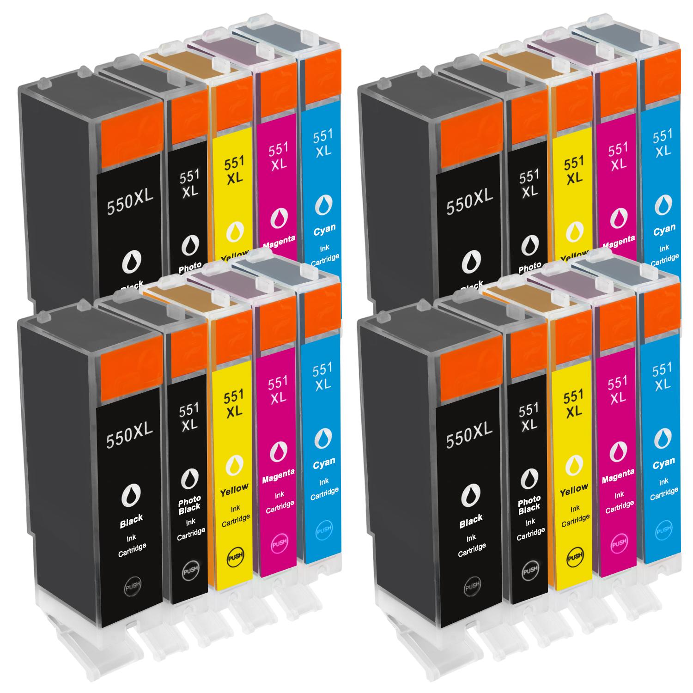 Sparset 20 Patronen XXL ProSerie kompatibel zu Canon PGI-550XL CLI-551XL
