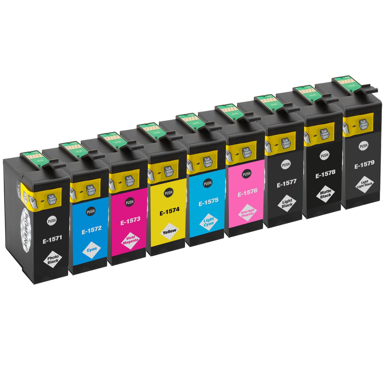 Sparset 9 Patronen XXL ProSerie kompatibel zu Epson T1571-T1579