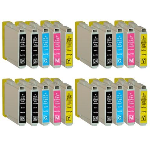 Sparset 20 Patronen XL ProSerie kompatibel zu Brother LC-970 BK, C, M, Y