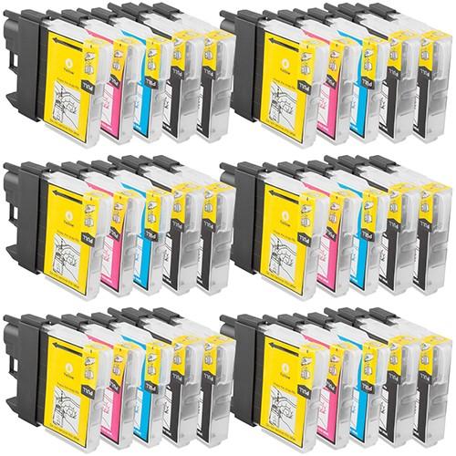 Sparset 30 Patronen XL ProSerie kompatibel zu Brother LC-970 BK, C, M, Y