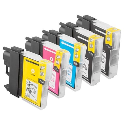 Sparset 5 Patronen XXL ProSerie kompatibel zu Brother LC-1100 BK, C, M, Y